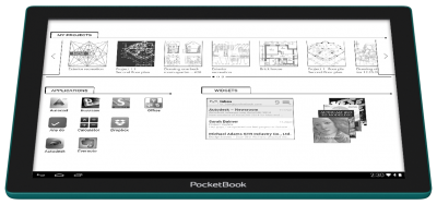 E Ink Fina™ EPD module, first to be installed in the PocketBook CAD