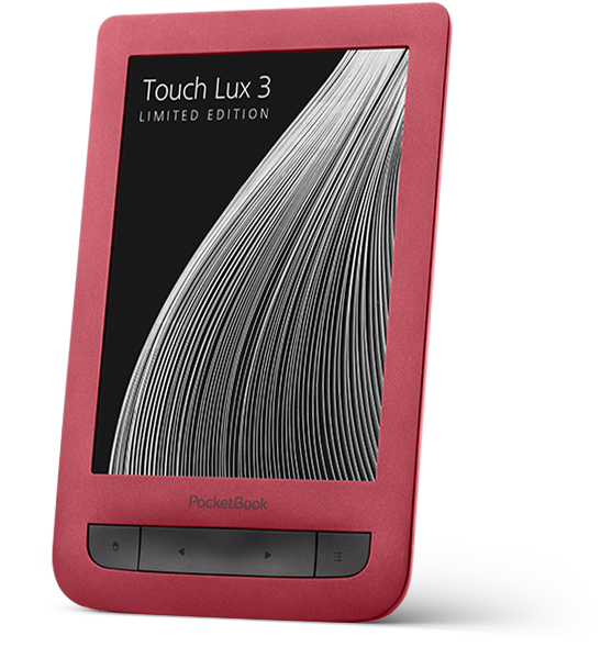 PocketBook Touch Lux 3 Ruby Red - the limited edition of the